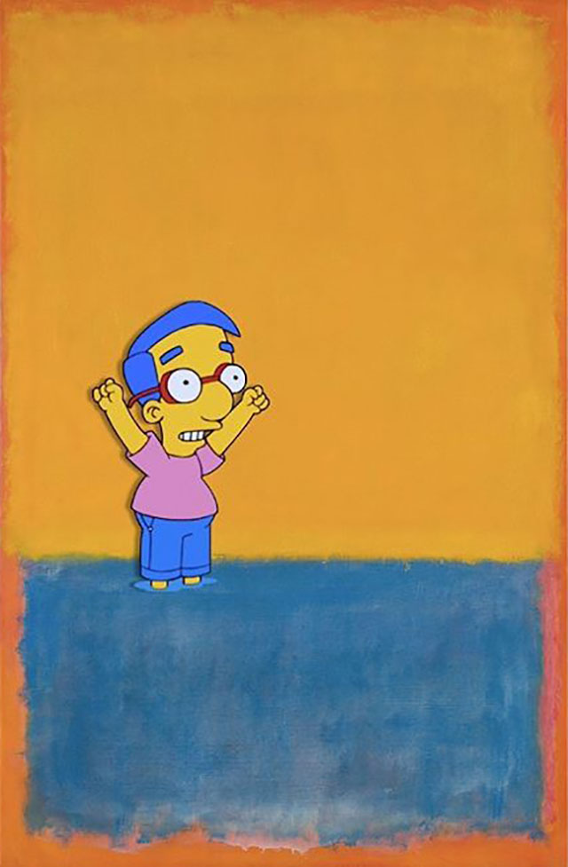 simpsons fine art photoshops 11 An Introduction to Fine Art Through Funny Simpsons Mashups