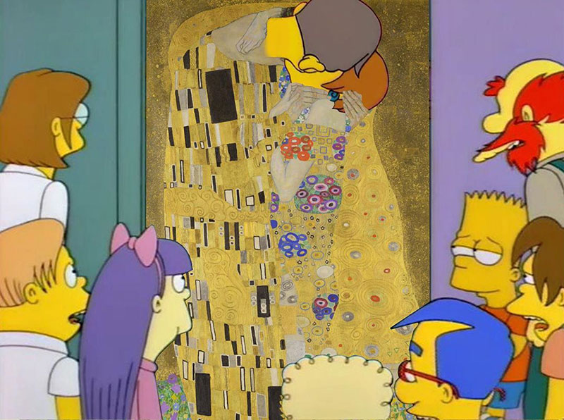 simpsons fine art photoshops 17 An Introduction to Fine Art Through Funny Simpsons Mashups