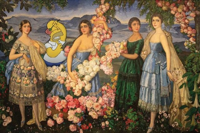 simpsons fine art photoshops 18 An Introduction to Fine Art Through Funny Simpsons Mashups