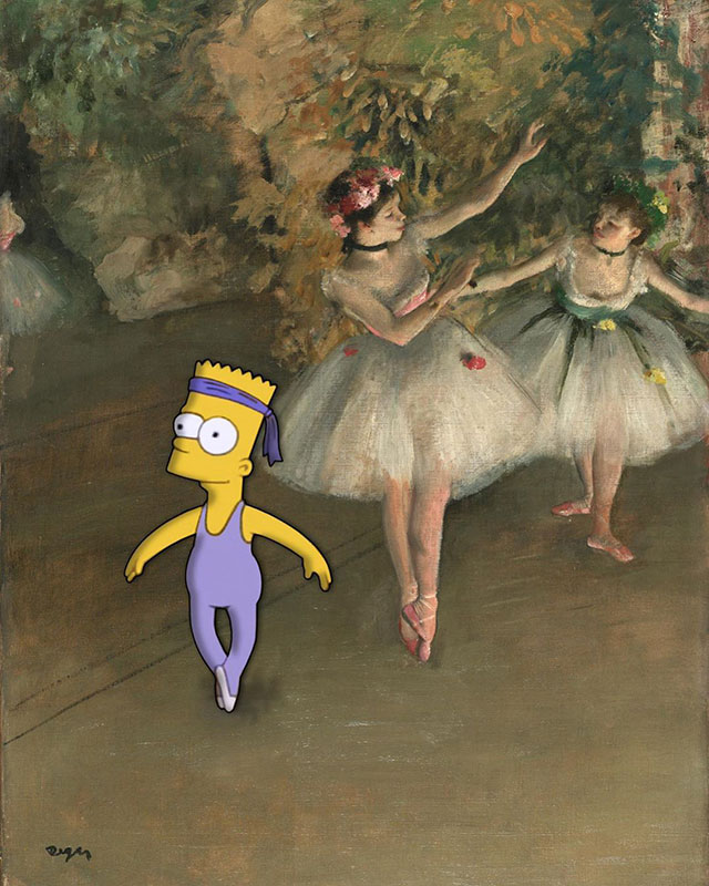simpsons fine art photoshops 3 An Introduction to Fine Art Through Funny Simpsons Mashups