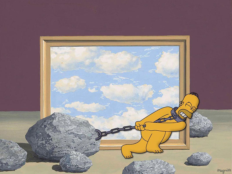 simpsons fine art photoshops 4 An Introduction to Fine Art Through Funny Simpsons Mashups