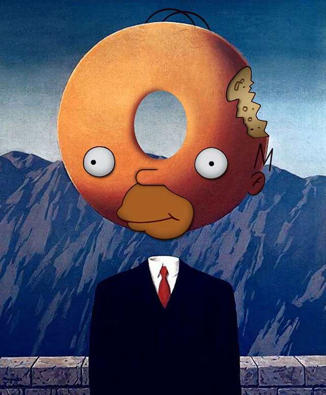 simpsons fine art photoshops 5 An Introduction to Fine Art Through Funny Simpsons Mashups