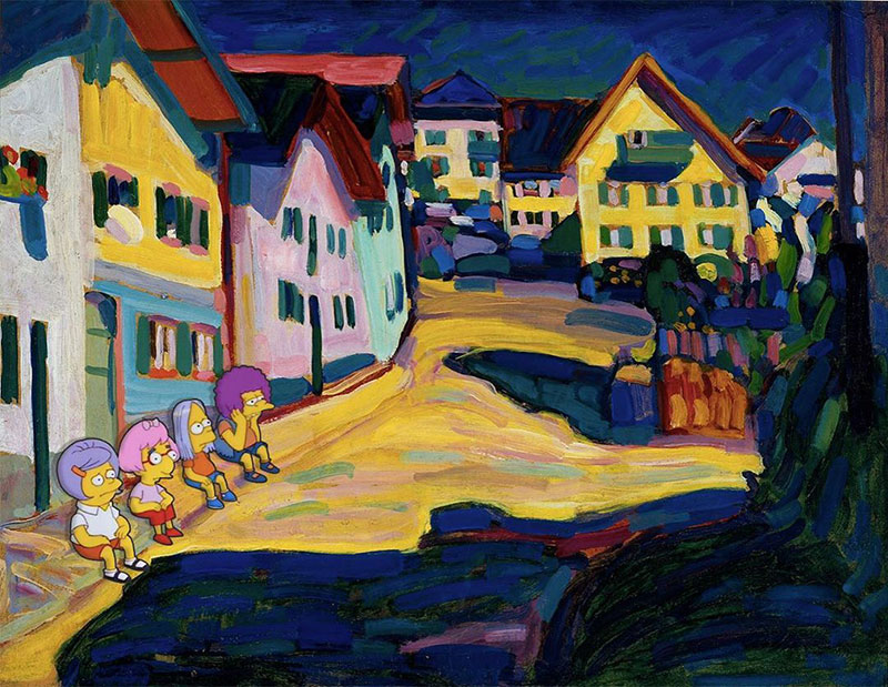 simpsons fine art photoshops 6 An Introduction to Fine Art Through Funny Simpsons Mashups
