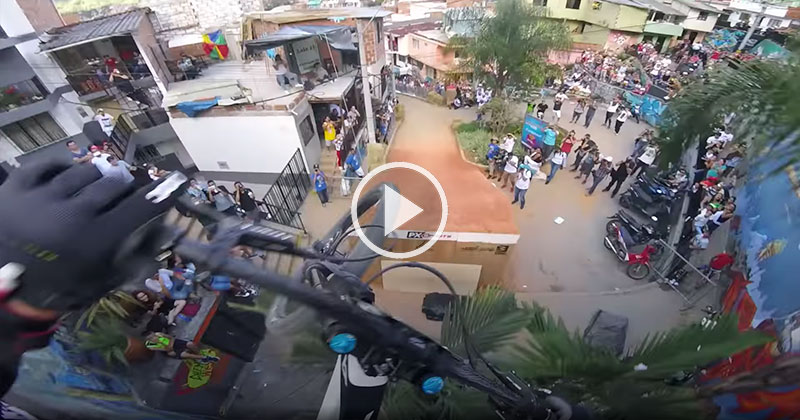 This First-Person View Down the World's Longest Urban Downhill Bike Race is INTENSE